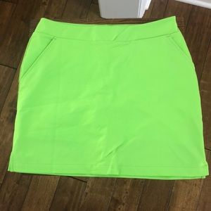 Loudmouth Golf Lime Green Skort size 8